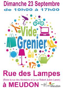 Brocante - Vide grenier rue des Lampes à Meudon
