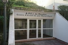 Signalétique du CAJM entrée principale Square Marcel Dupré