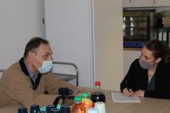 Le Directeur, Monsieur LAPLANE, et Mme Aude BERTRAND, journaliste de Chloroville le journal de Meudon